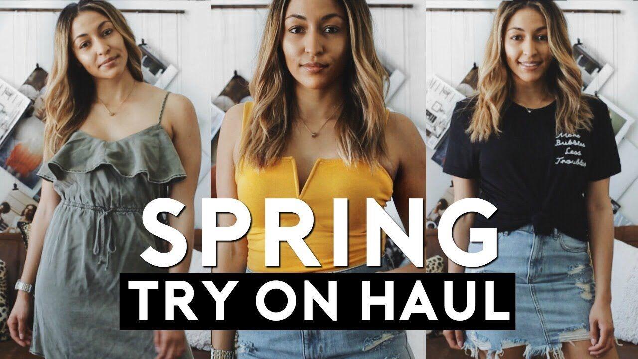 cc1e984dbfca HUGE Spring Clothing Try On HAUL 2018 | Nastazsa | SUMMER & SPRING ...