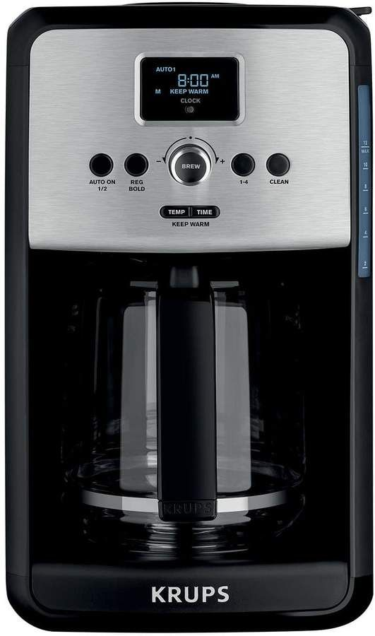 Krups Savoy 12 Cup Programmable Stainless Steel Coffee Maker