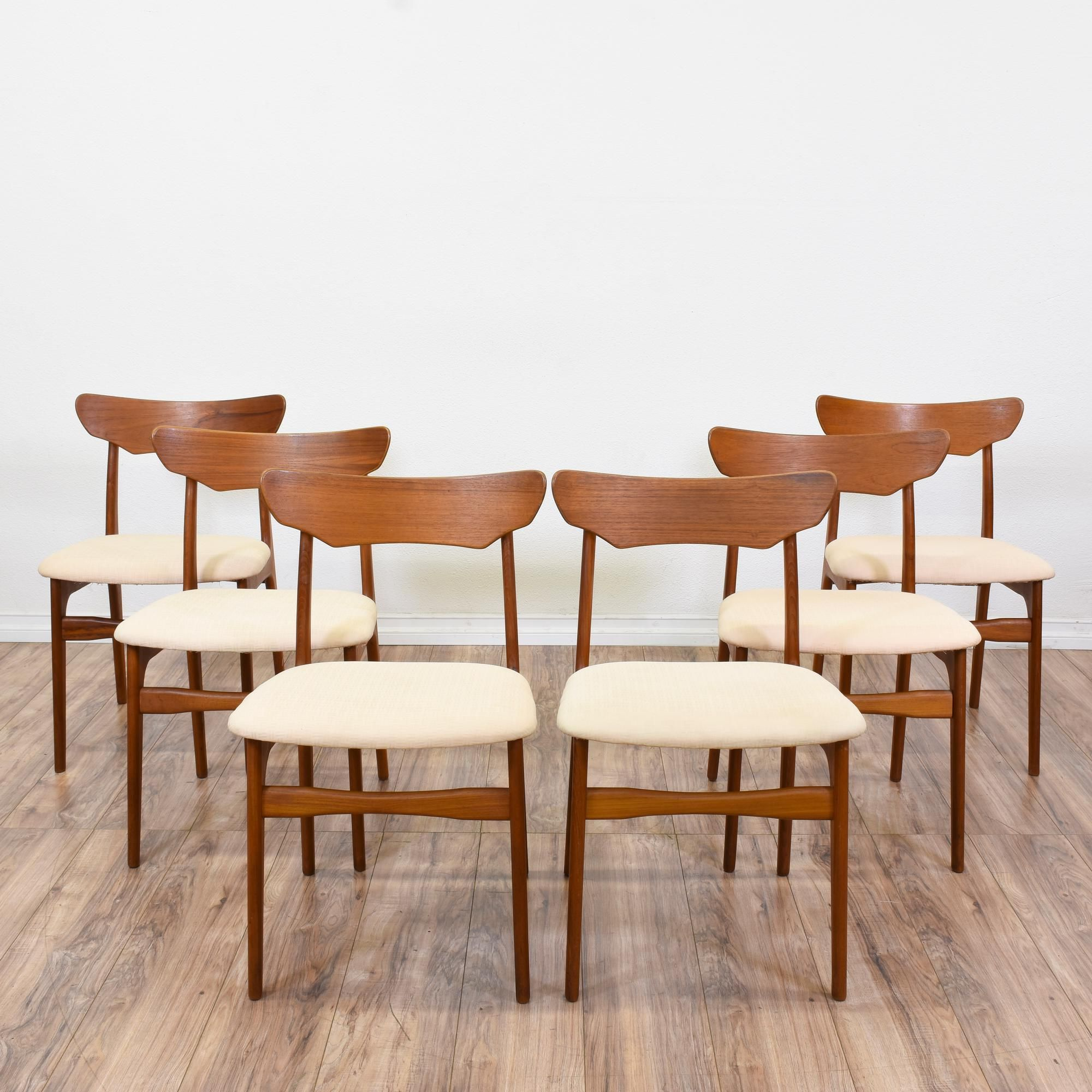Schionning and Elgaard Mid Century Teak Dining Chairs Vintage