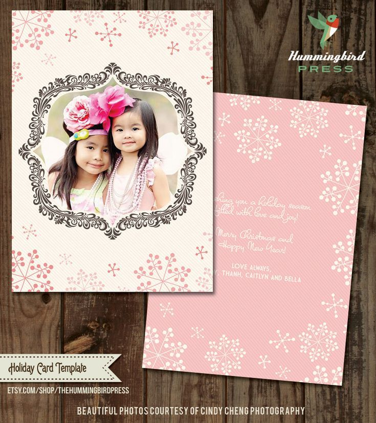 create your own christmas photo card with these free templates free christmas card template from