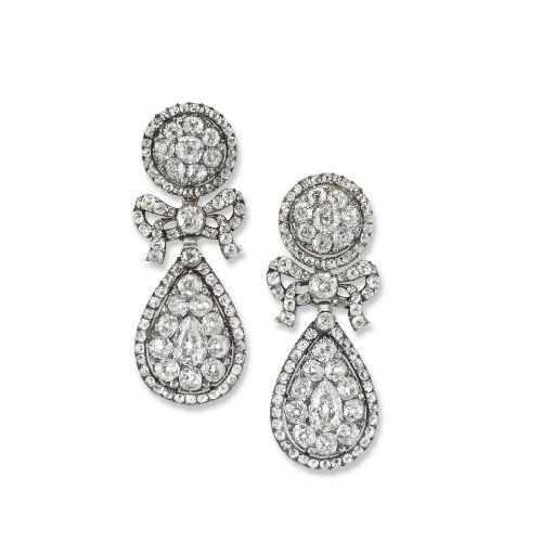 Georgian diamond pendeloques