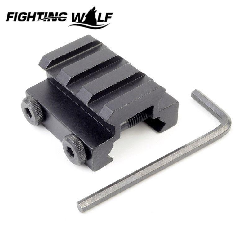 "1/2"" 3 Slot Low Riser 20mm Weaver Picatinny Rifle Short Side Rail Base Airsoft Paintball Riser Scope Mount Rail Accessories"
