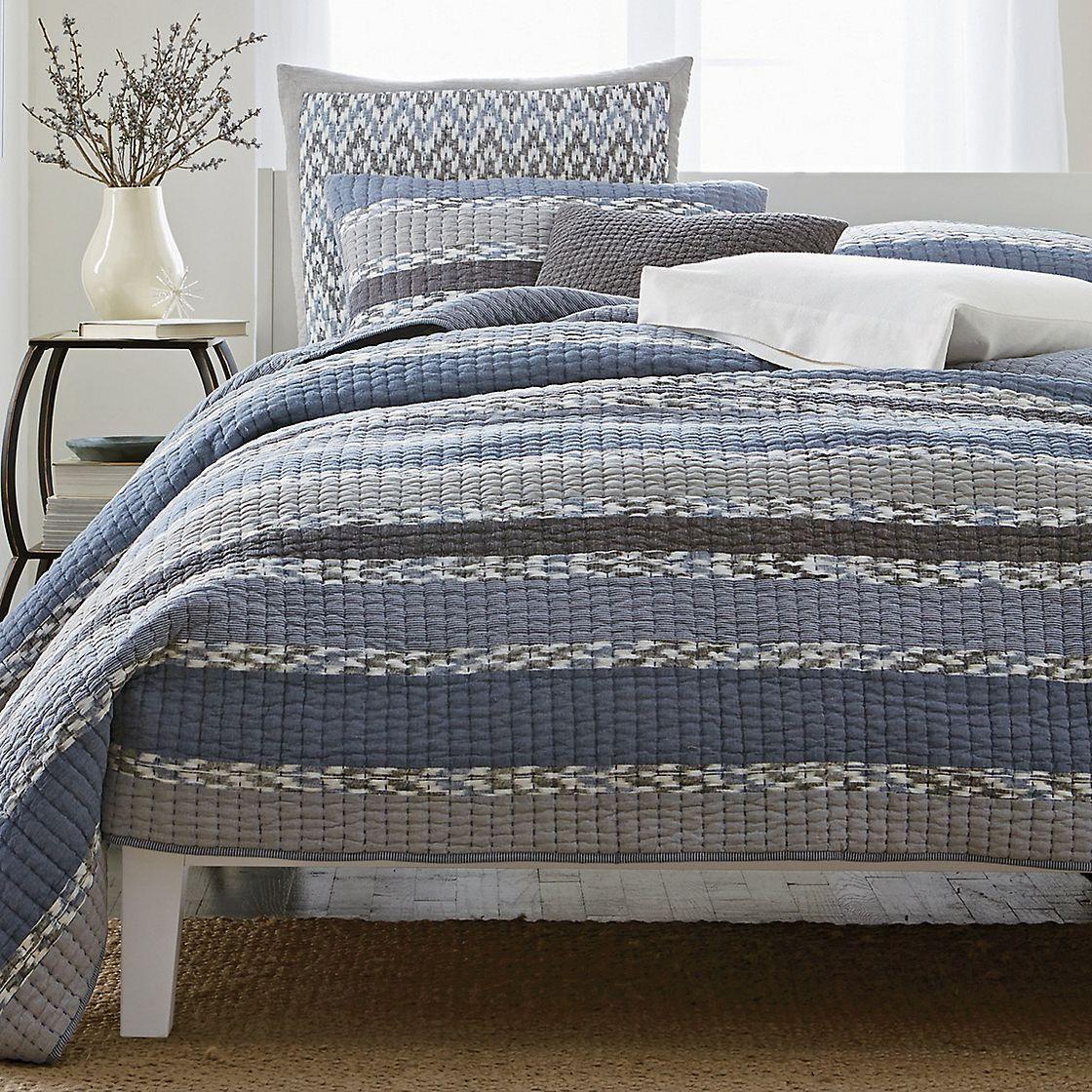 Glacier Quilt / Sham Premium bedding, Quilted sham