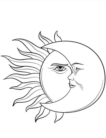 El Sol Y La Luna Dibujo Para Colorear E1550008027997 Dibujo De Sol Sol Para Colorear Dibujos