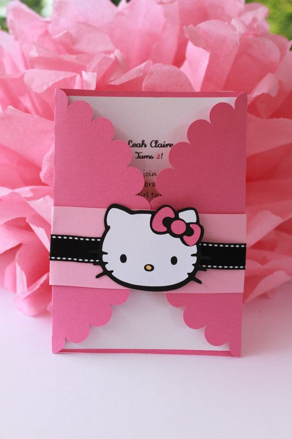 Hello Kitty Invitations Set Of 12 Hello Kitty Hello Kitty
