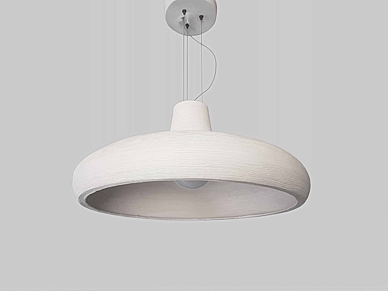 Pendant Light Hanging Light Ceramic Off White Lampshade Dining
