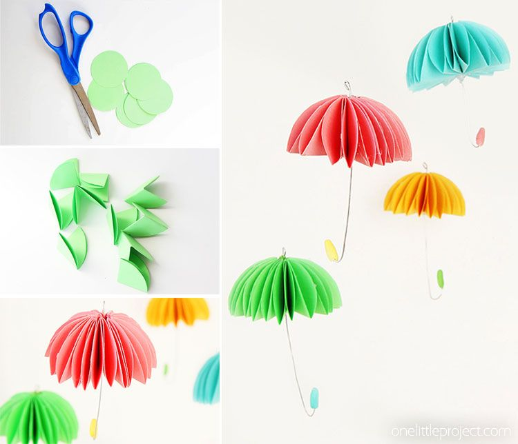 How To Make Paper Umbrellas Paper Umbrellas Umbrella Craft Paper Crafts