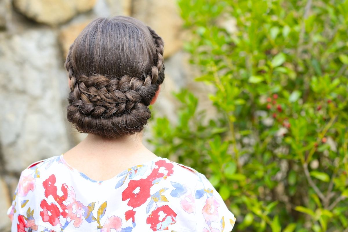 Lacerolled updo hairstyle and more hairstyles from