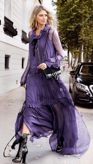 446062ed39fb Lena Perminova - bohemian  Chloe dress  streetstyle
