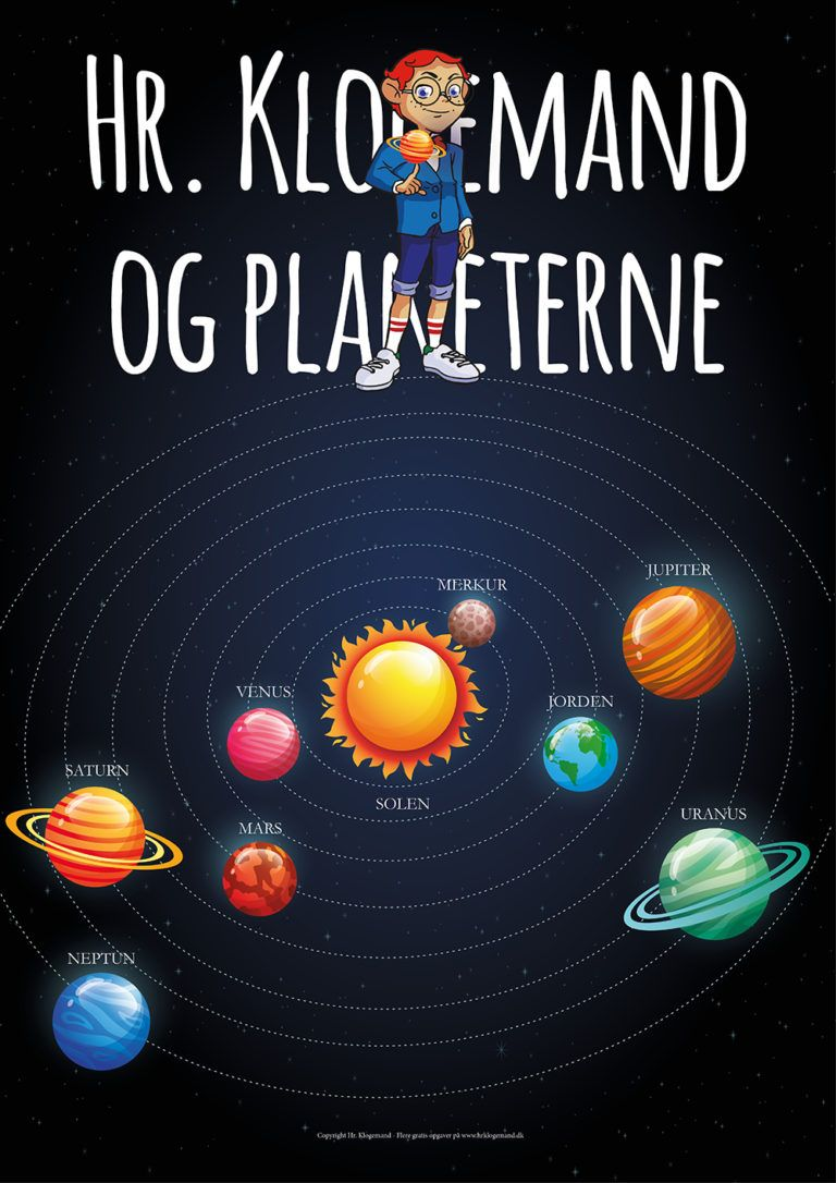Hr Klogemand Og Planeterne Gratis Arbejdshaefte Hr Klogemand Matematikopgaver Solsystem Plakater