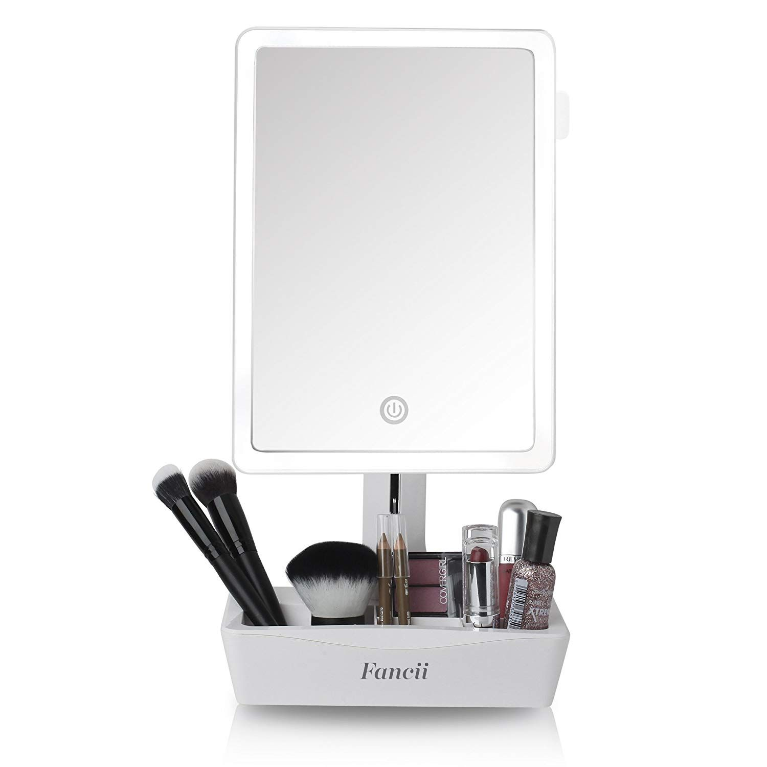 Fancii Led Lighted Large Vanity Makeup Mirror With 10x Magnifying Mirror Dimmable Natural Li Magnifying Mirror Makeup Mirror Makeup Vanity Mirror With Lights
