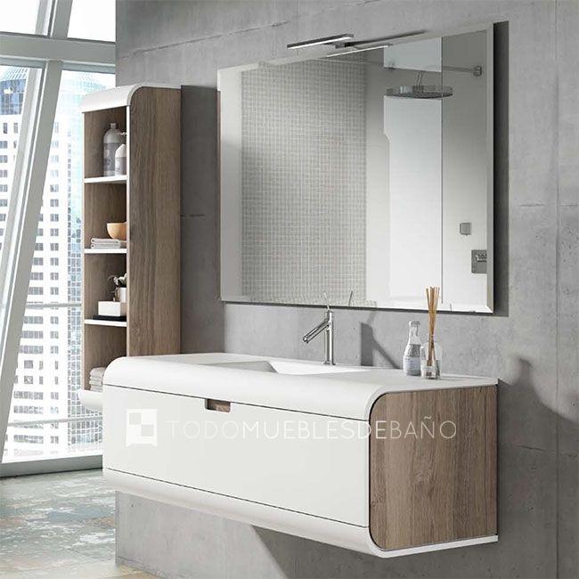 Mueble de bao color costado Nigara 84 frente Nieve 50 lavabo