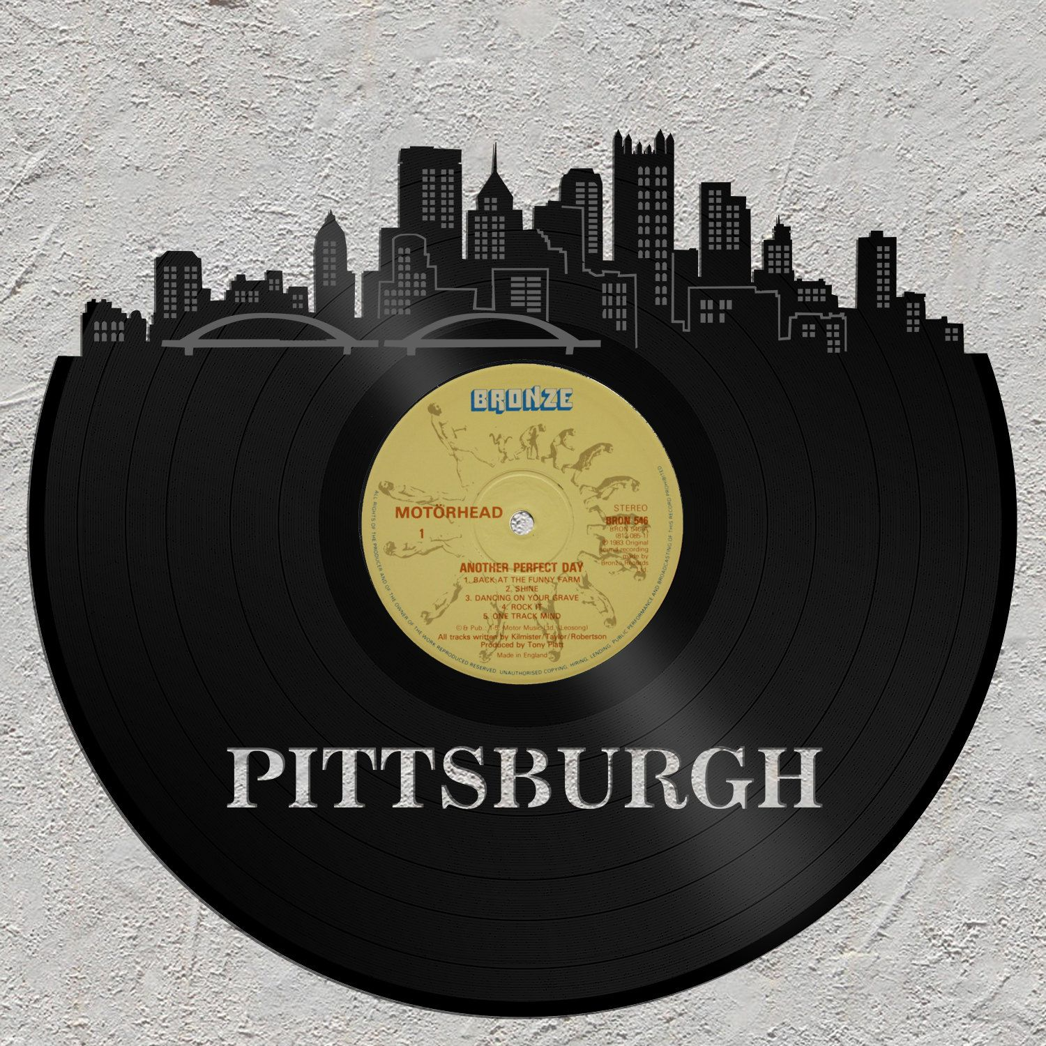 Cityscape Art - Pittsburgh Skyline, Custom Wall Decor, Vinyl Wall ...