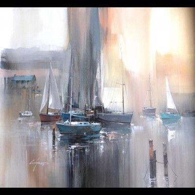 Peinture de bateau autour d 39 un cadre encadrement for Peinture interieur bateau