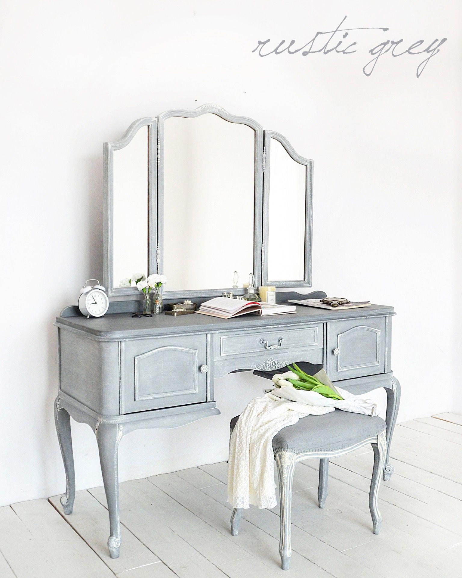 brand new 4e29f 47fb2 grey triple mirror dressing table - soft grey - pale grey ...