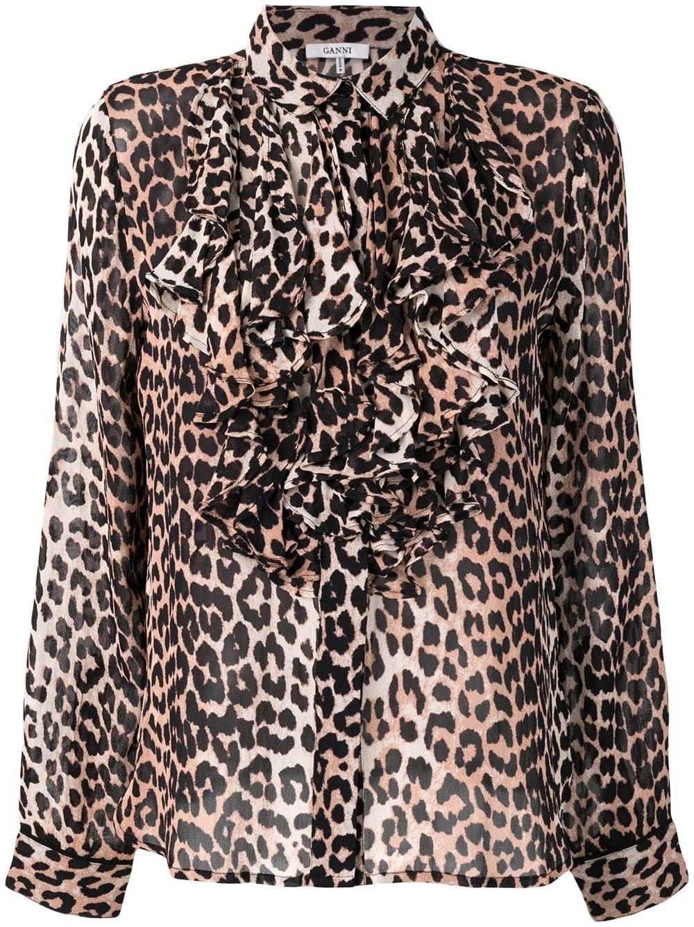 Ganni Leopard Print Shirt Farfetch Leopard Print Shirt Printed Shirts Leopard Print [ 1334 x 1000 Pixel ]