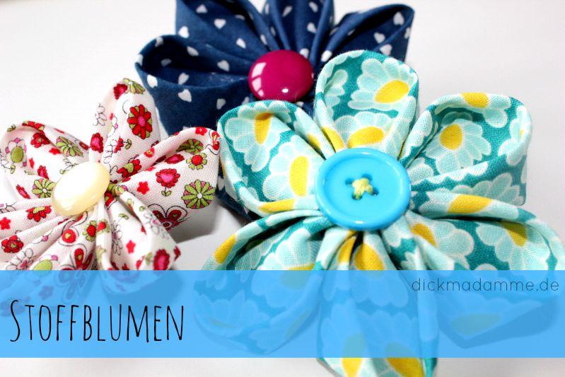 stoffblumen anleitung dickmadamme blog n hen pinterest n hen stoffe und stoffblumen. Black Bedroom Furniture Sets. Home Design Ideas