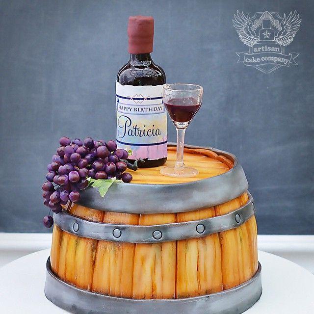 Wine Lovers Cake Birthday Cake Wine Wine Bottle Cake