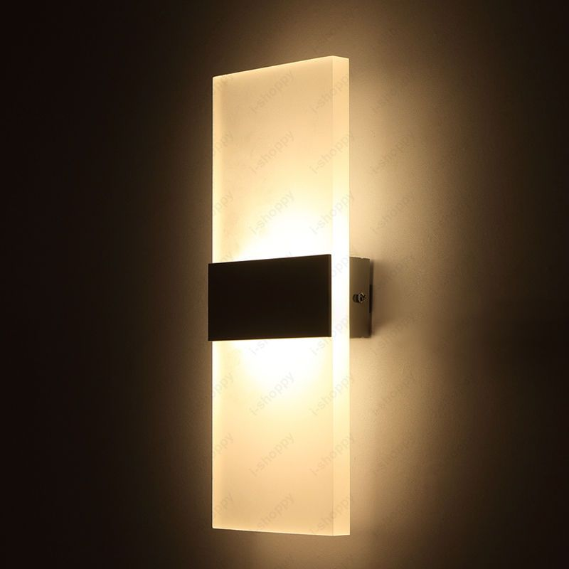 6W LED Wall Mount Light Fixture Bedside Lamp Acrylic Lighting ...