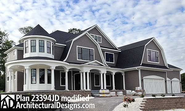 Plan 23394jd luxurious shingle style home plan luxury for 6000 square feet home