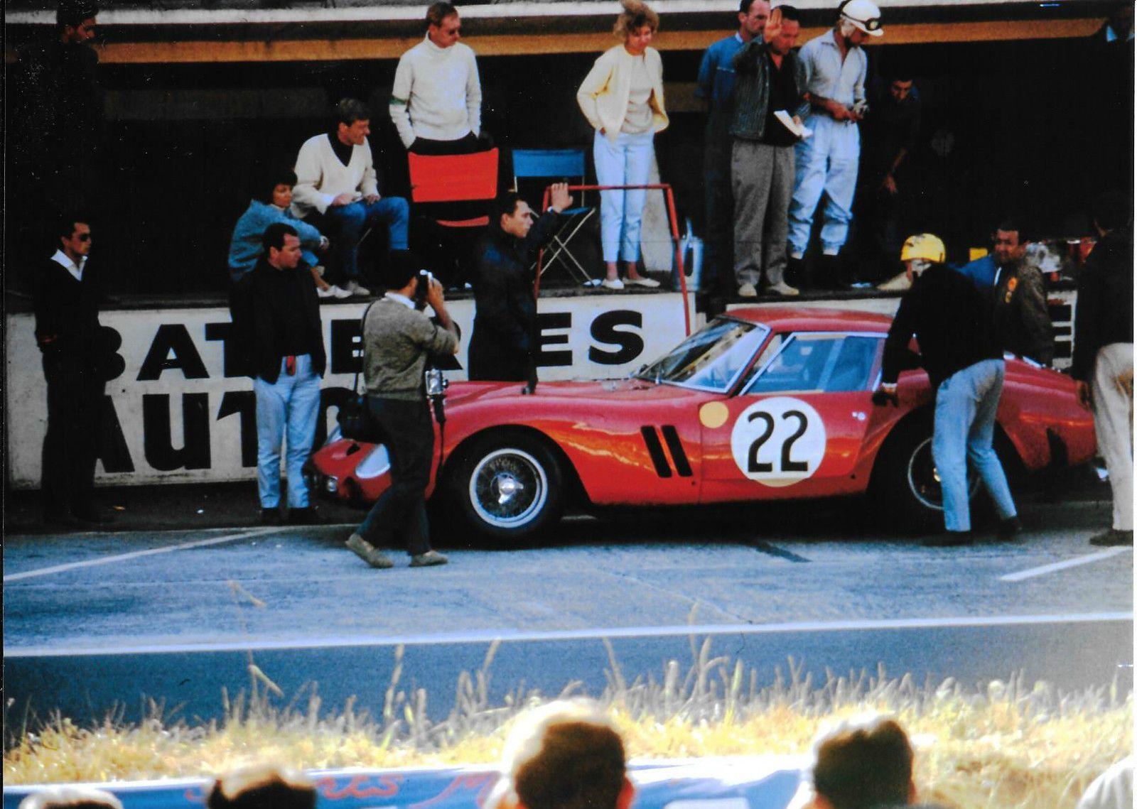 1962 LE MANS 24 HOURS HEURES FERRARI 250 GTO Jean Blaton