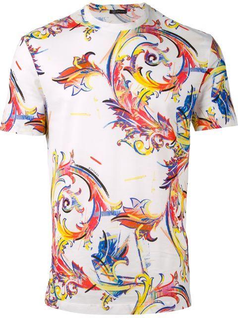5fac23bfb Versace Baroque Print T-shirt - Verso - Farfetch.com | Expensive ...