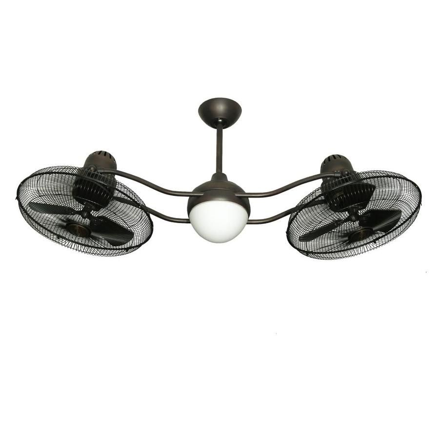 Troposair Duet 50 In Oil Rubbed Bronze Indoor Outdoor Ceiling Fan