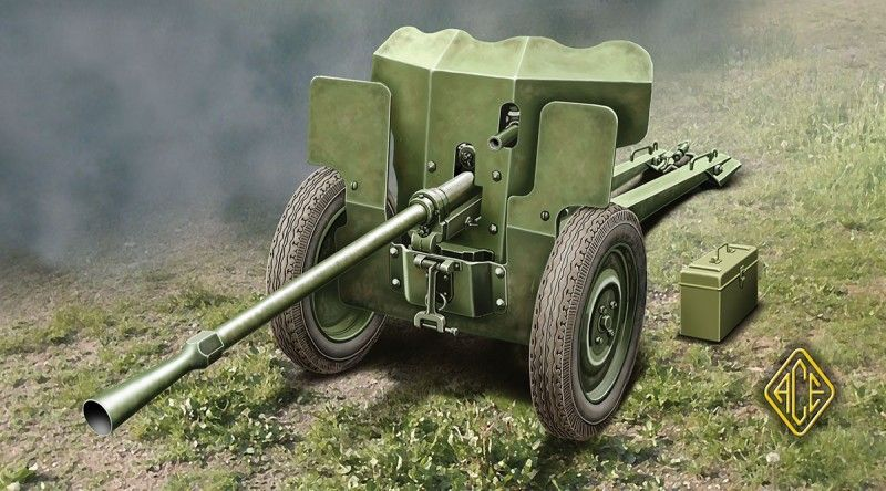 Kit about the French 25mm Anti-tank gun S.A. Mle 1934 from the brand Ace Models ref 72523