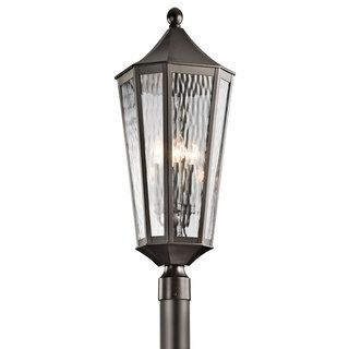 Kichler lighting rochdale collection 4 light olde bronze outdoor exterior column post lights kichler rochdale in olde bronze mozeypictures Image collections