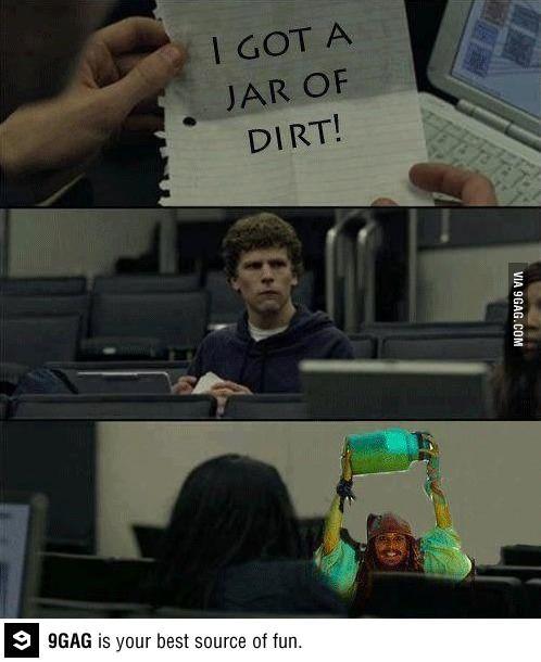 I got a jar of dirt!