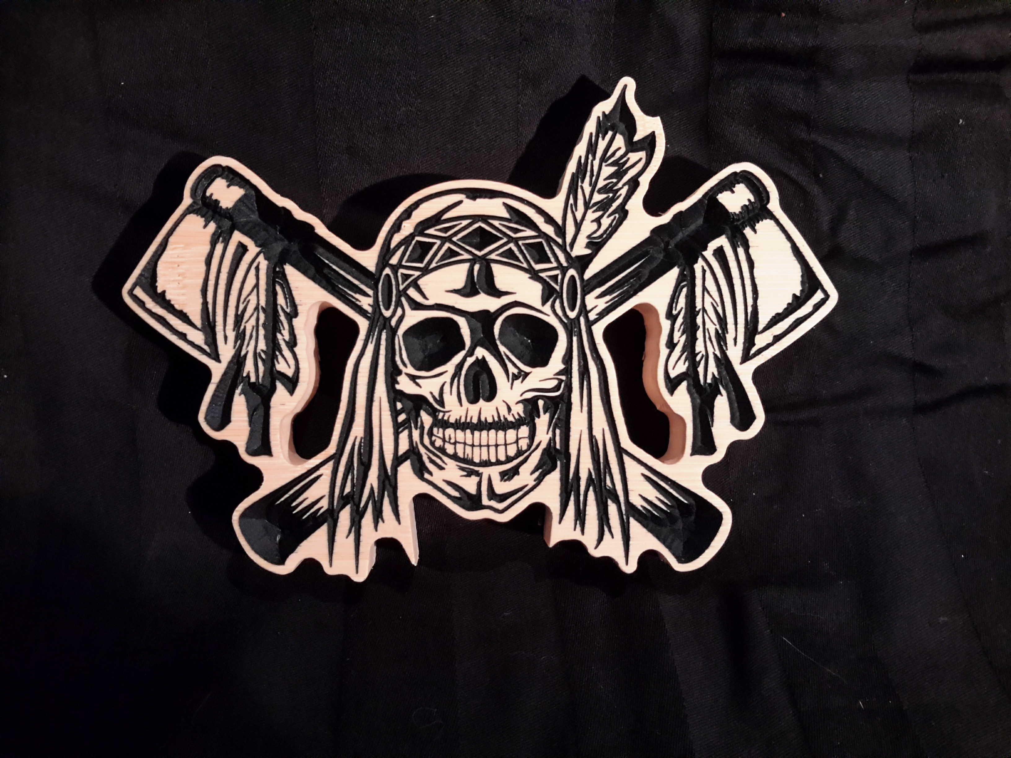 Skull Man Cave Decor : Mohawk skull light vintage tube bulbs mad max lamp chrome