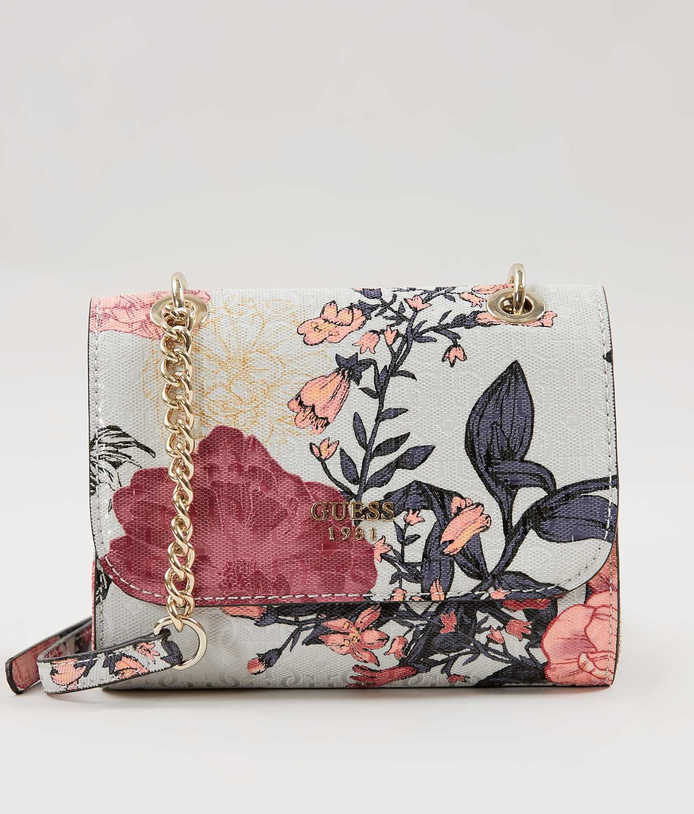 6c4d2e1485 Guess Seraphina Purse - Women s Accessories in Grey Floral
