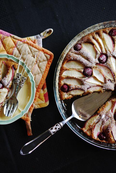 Naturally Sweetened Nectarine And Raspberry Cake