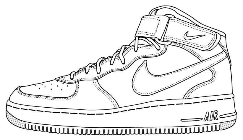 Air Force Shoes Coloring Pages You'll Love