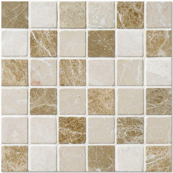 Milano Blend Tumbled 12x12 2x2 Marble Mosaics Flooring Marble Mosaic Mosaic Flooring
