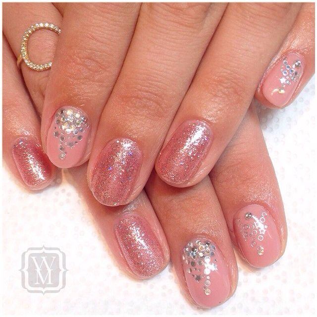This mani is fit for a princess! Gel colors: June Bride from ...