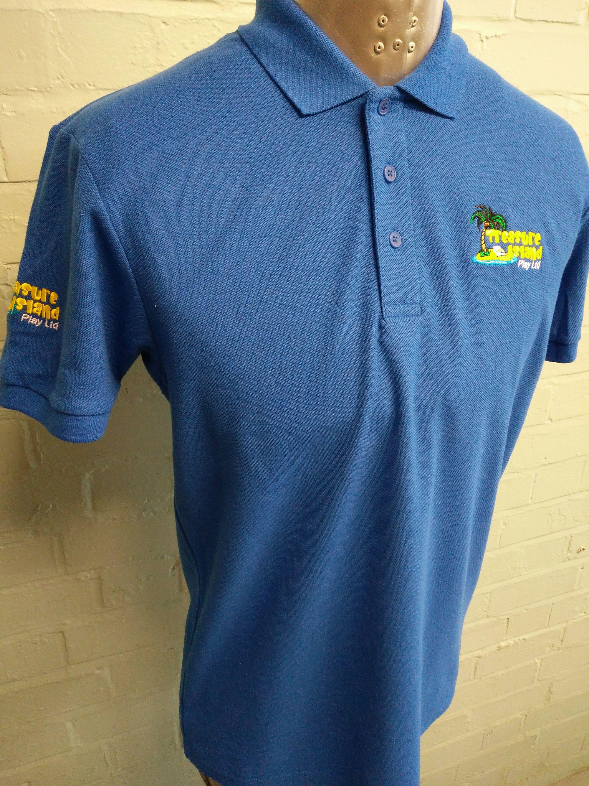 Workwear Polo T Shirts Looking Good For Treasure Island Play Ltd