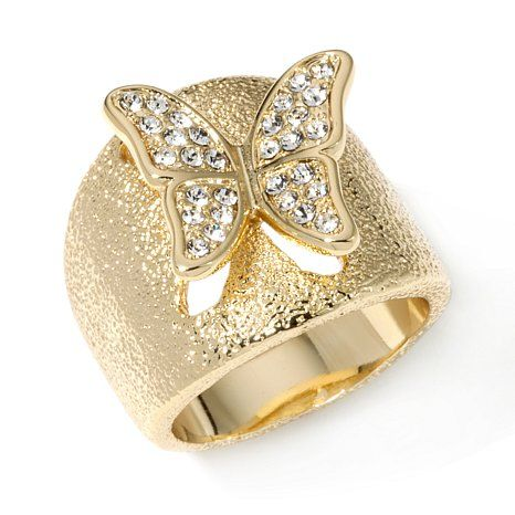 """Real Collectibles by Adrienne® """"Butterfly"""" Ring"""