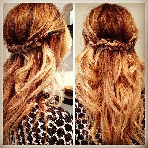 Boho braided prom hair-