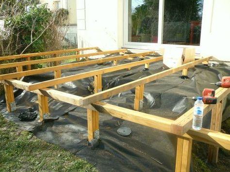 Faire une structure en bois pour terrasse en bois terrasse Pinterest
