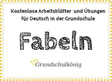 kostenlose Übungen und aufgaben zum thema fabeln für deutsch in