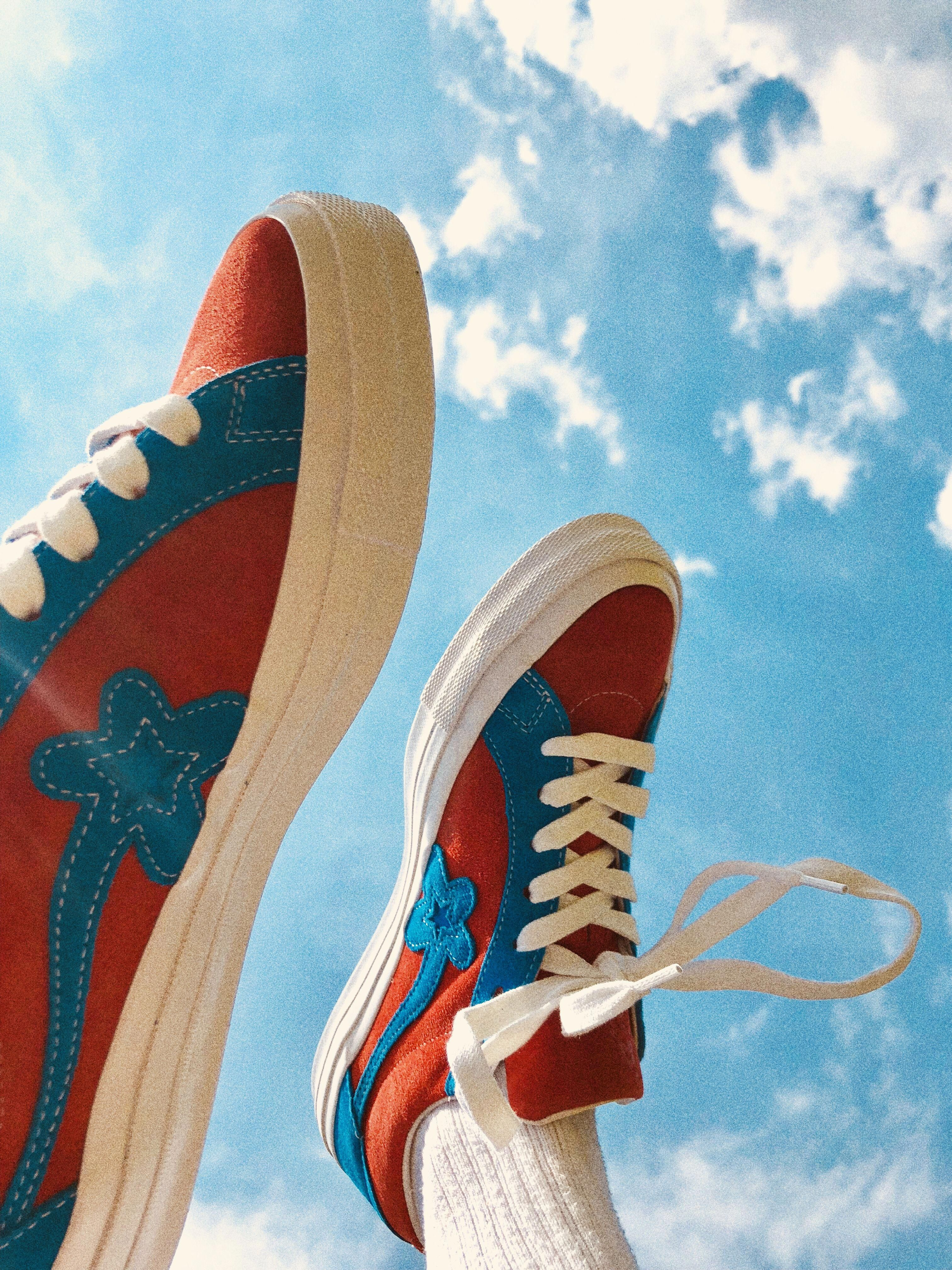 Blue and Red Golf le Fleur #golfshoes