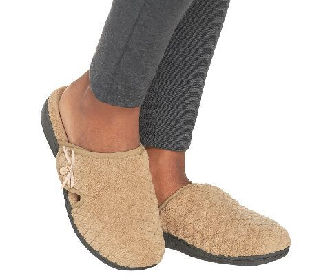 461252a55050 ... of your home. VIONIC Adilyn Slippers - keeps your feet warm and  supported!