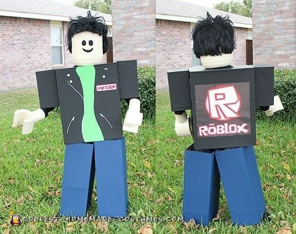 Cool Homemade Roblox Costume Of My Son S Avatar Halloween