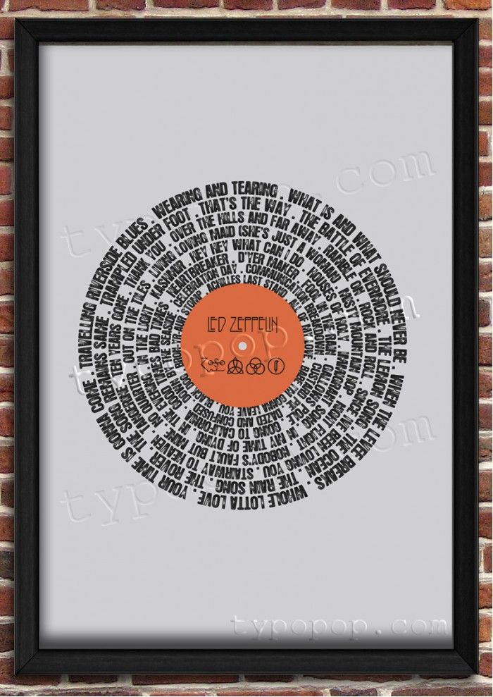 typopop.com Printable Wall Art | Only $5 | Record It Led Zeppelin ...