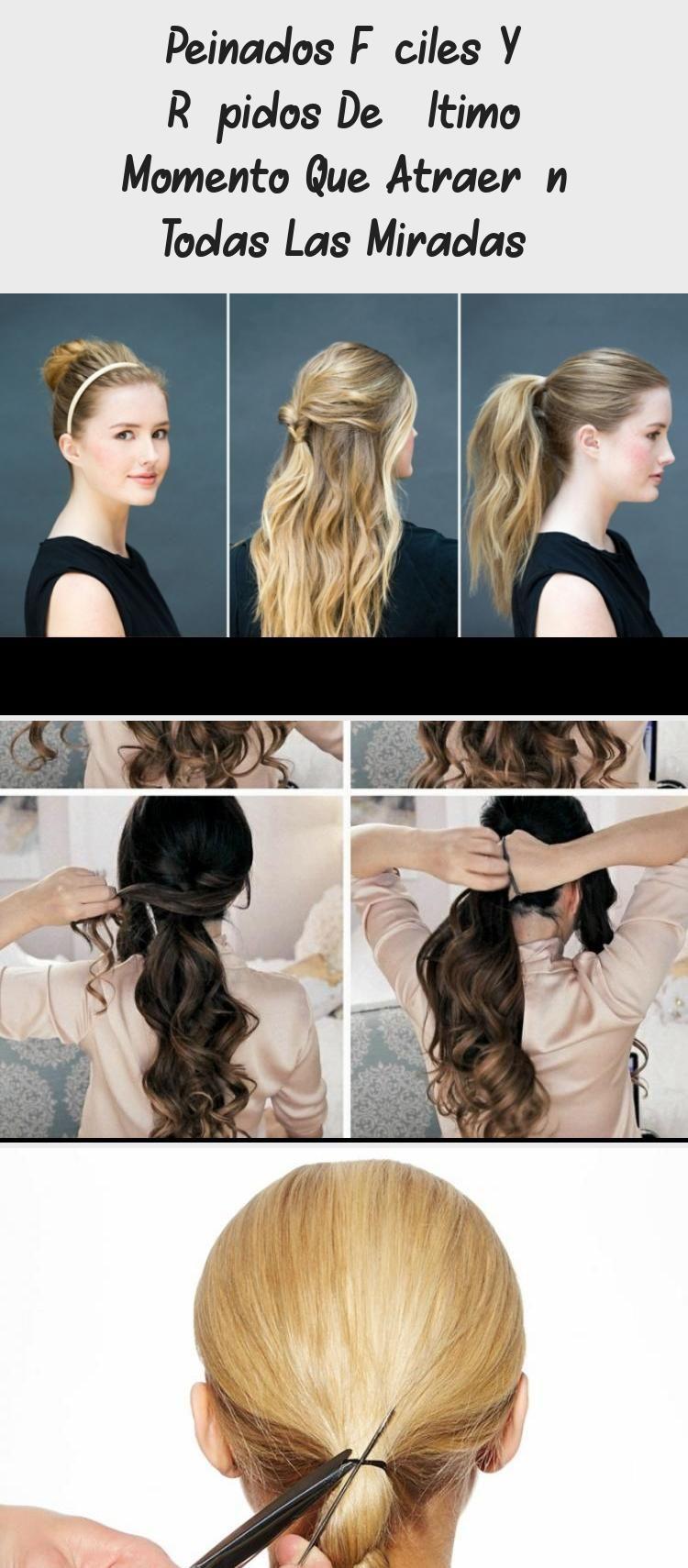 Peinados Faciles Y Rapidos De Ultimo Momento Que Atraeran Todas Las Miradas Fast Hairstyles Hair Styles Low Bun