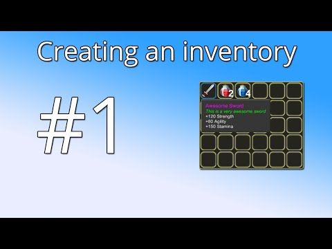 Unity Tutorial: Creating an inventory(PART 1) - The basic