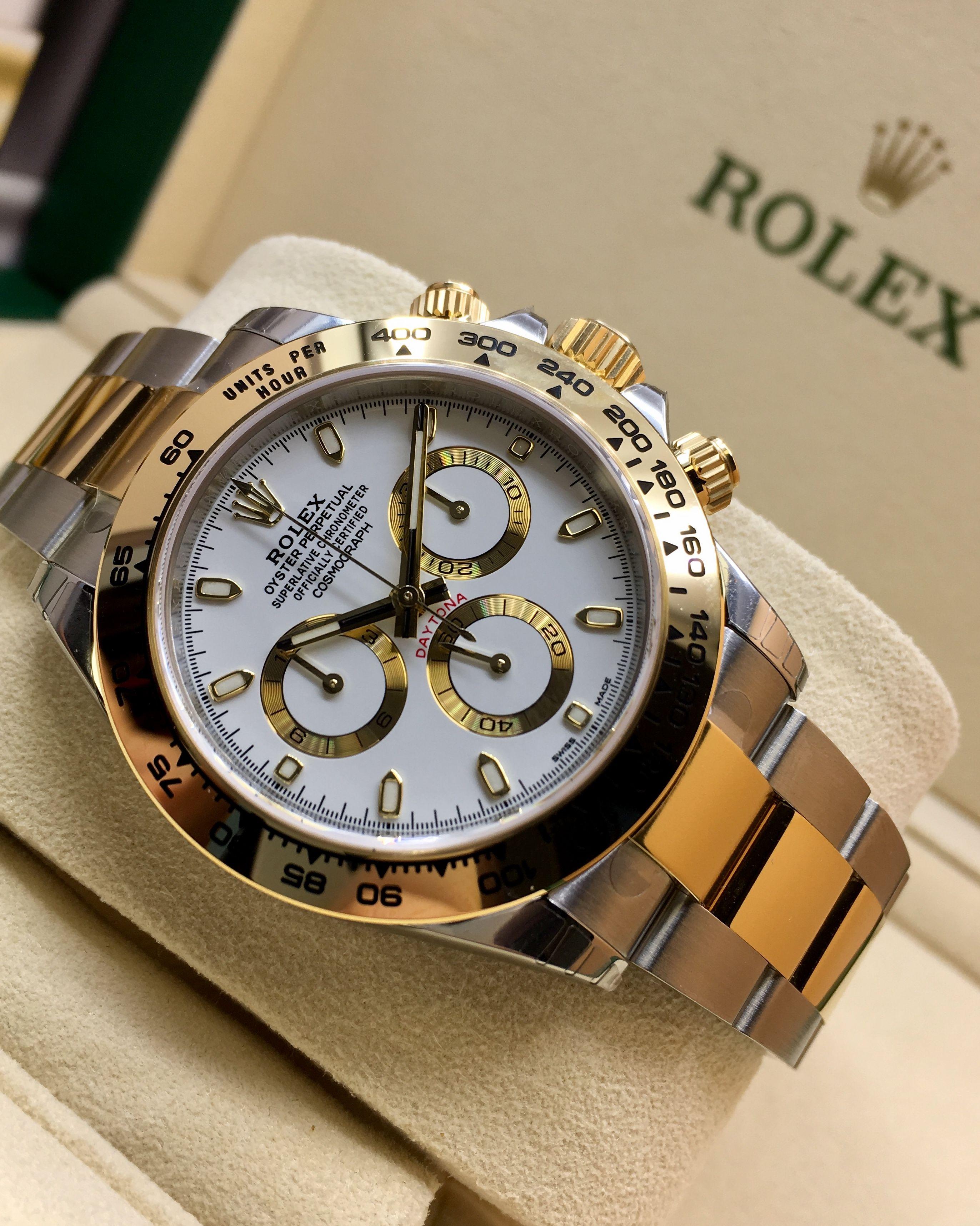 cda8b7faee9 Rolex Daytona Steel   Gold White Dial 116503