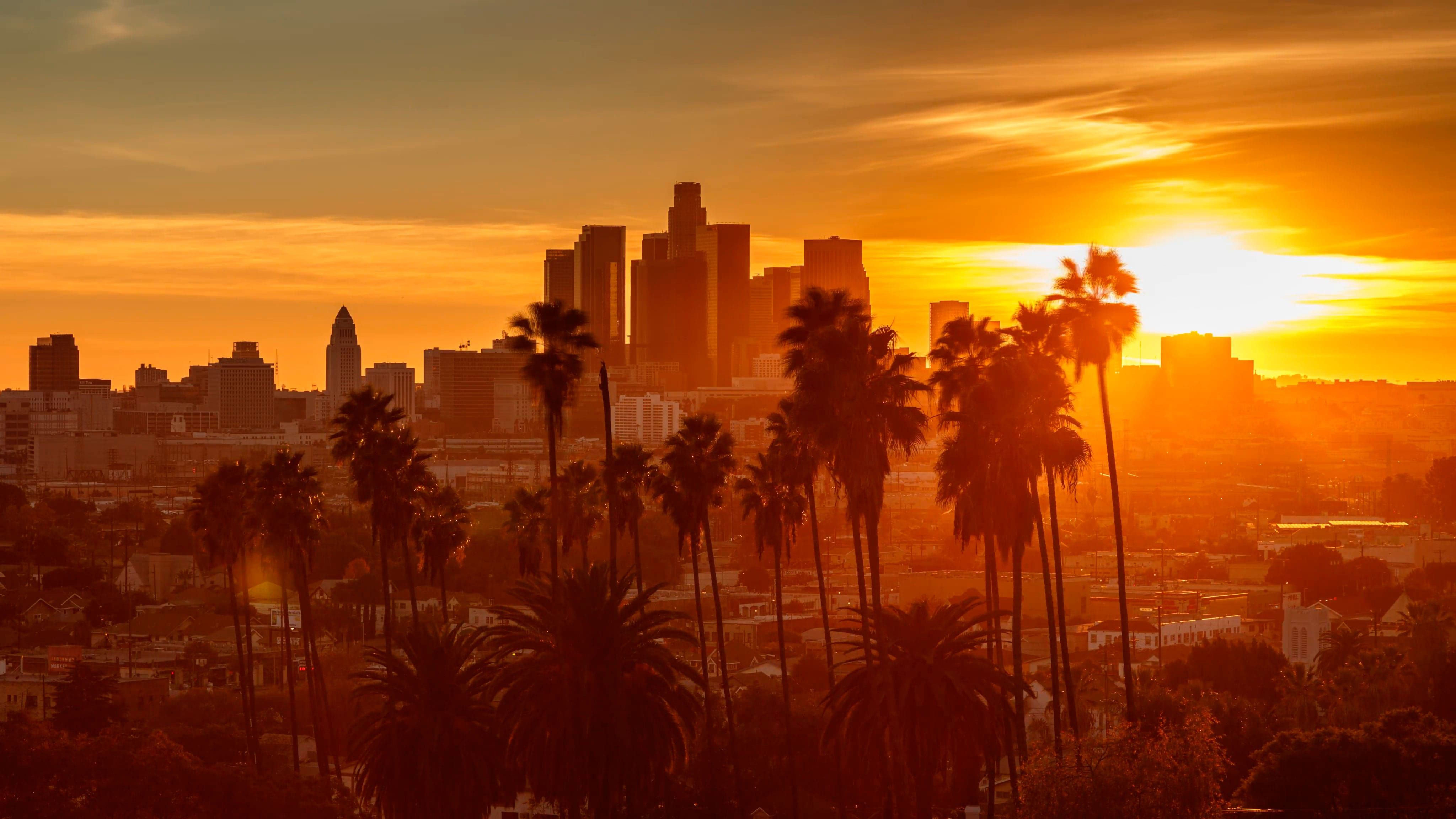 The Most Beautiful Sunset in Los Angeles, California
