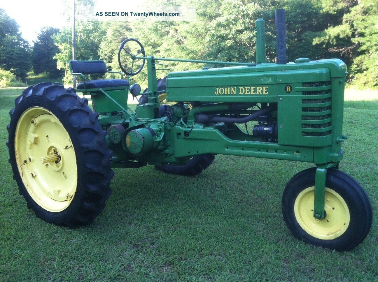 1949 john deere tractor 3 wheel models | 1949 John Deere Farm Tractor B  Model Antique 3 Point Hitch & Pto .